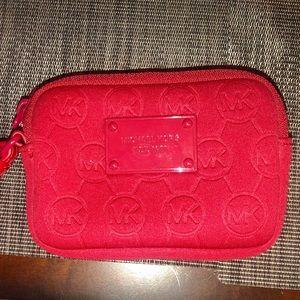 NWOT Michael Kors Neoprene Red Wristlet Wallet